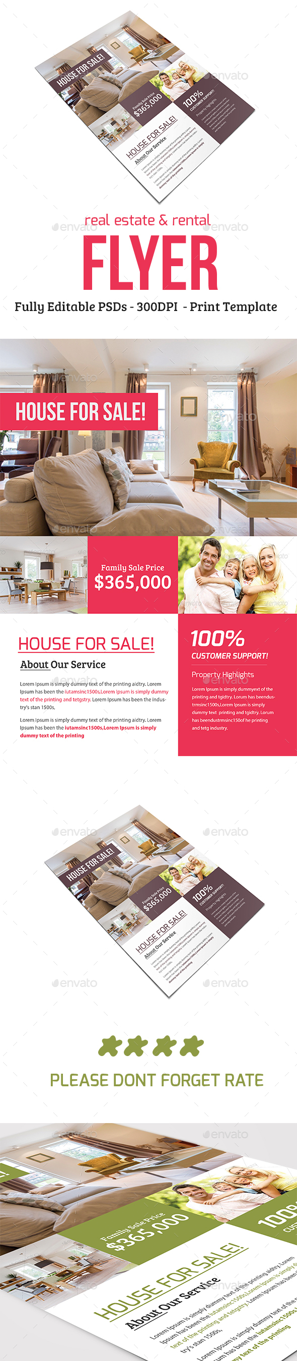 Real Estate & Rental Flyer - Commerce Flyers