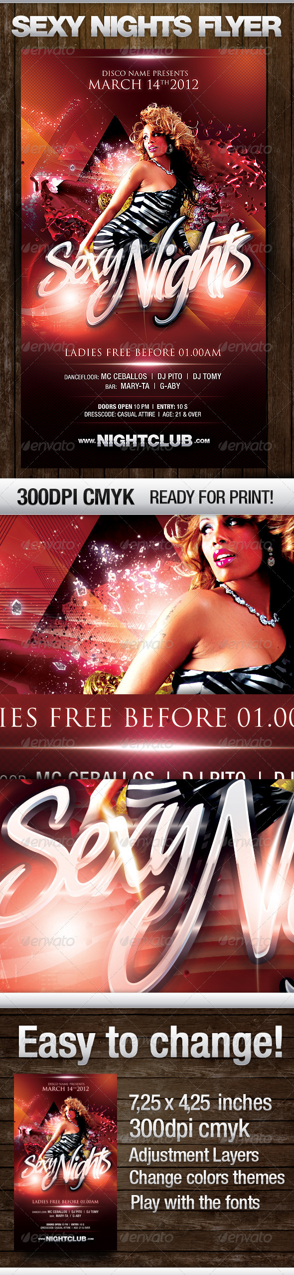 Sexy Nights Flyer - Flyers Print Templates