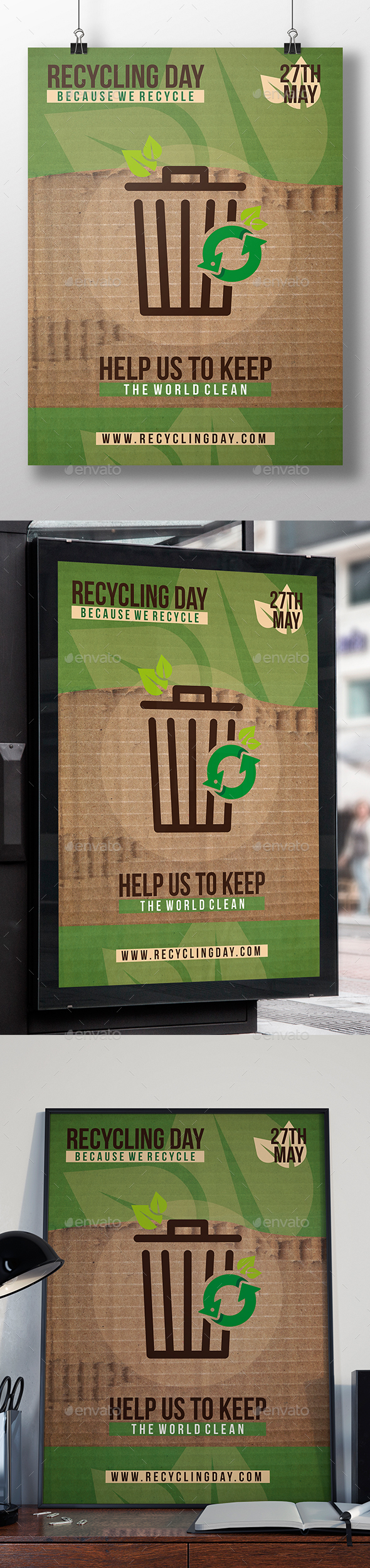 Recycling Event Flyer Template - Miscellaneous Events