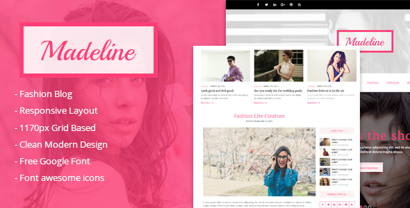 Madeline Fashion Blog WordPress Theme