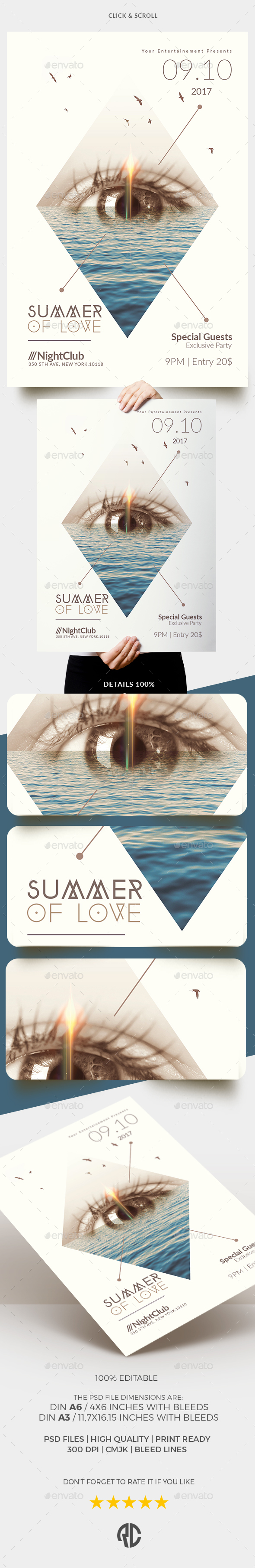 Minimalist Summer of Love | Templates - Events Flyers
