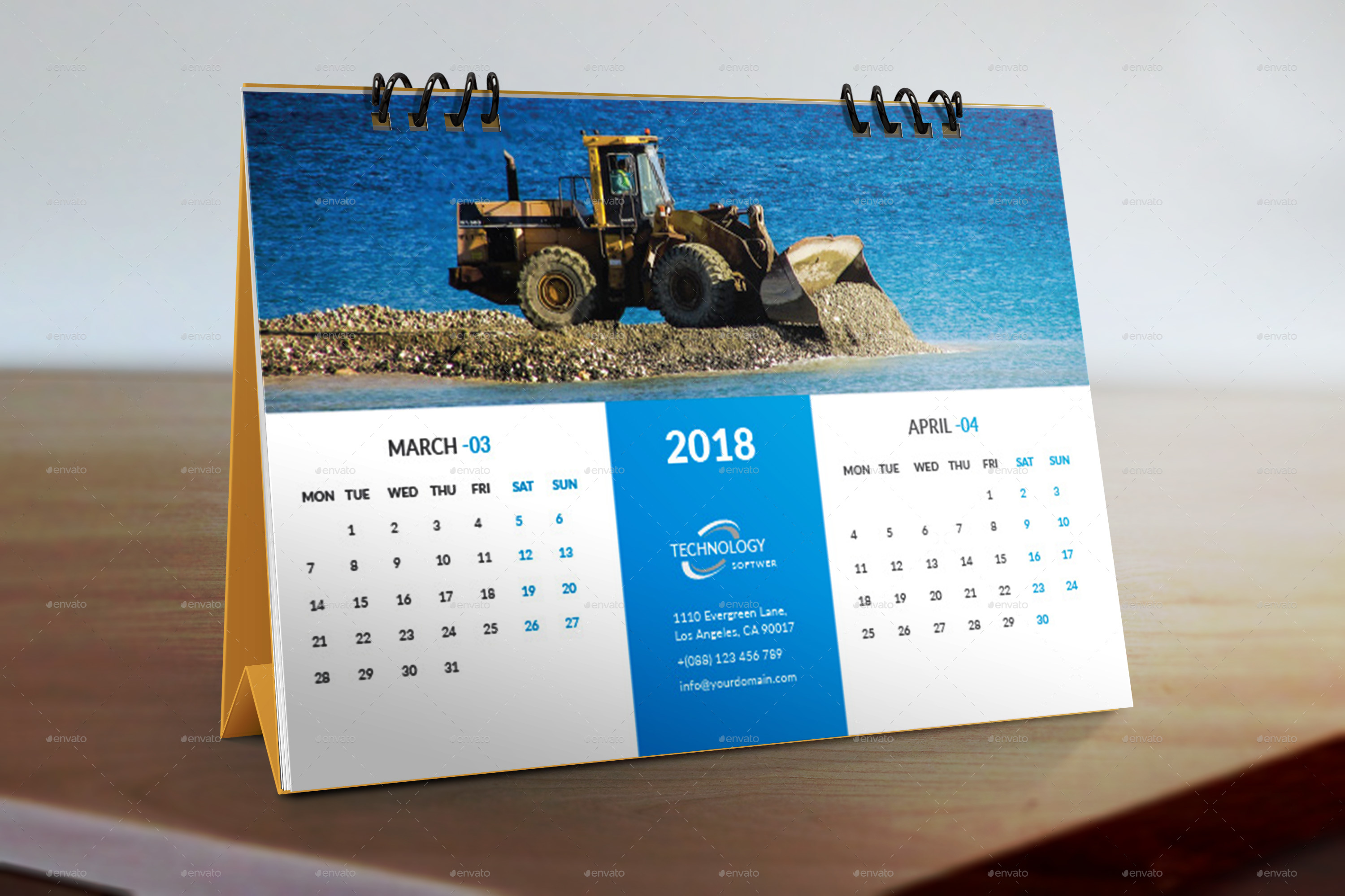 Desk Calendar 2018 by graphicstar10 | GraphicRiver