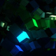 Blue And Green Cubic Chaos - VideoHive Item for Sale