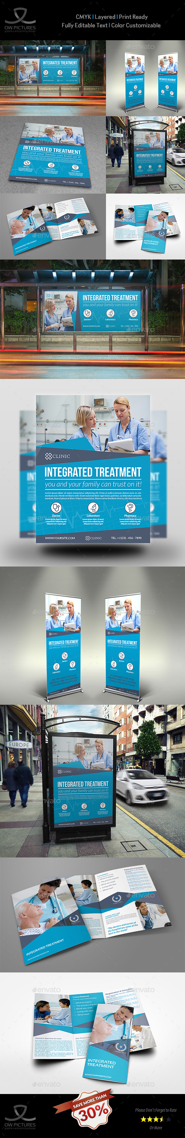 Medical Care Advertising Bundle - Signage Print Templates