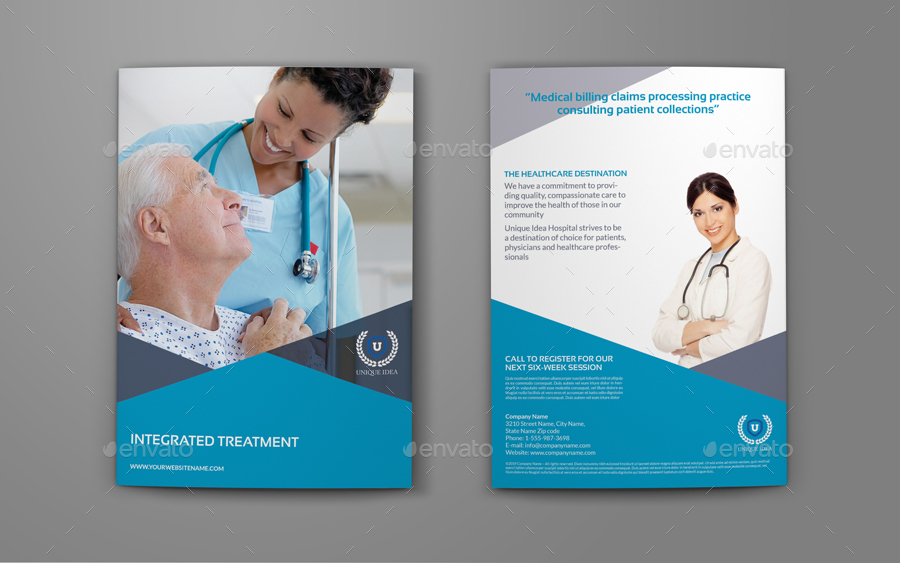health brochure template - medical care advertising bundle by owpictures graphicriver