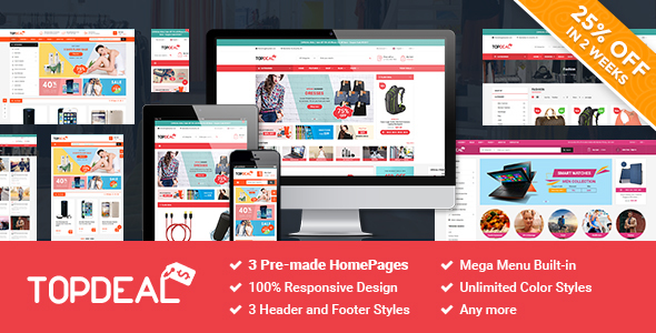 SM TopDeal – Responsive and Customizable Magento 2.1.x Theme