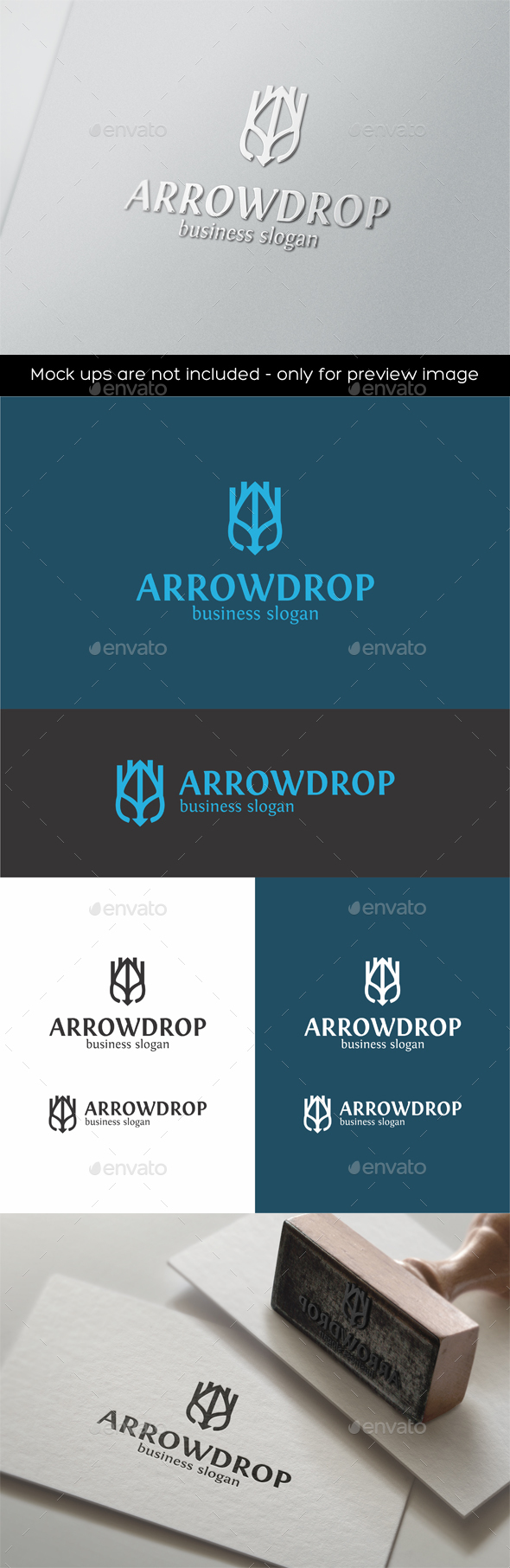 Arrow Drop Logo Template