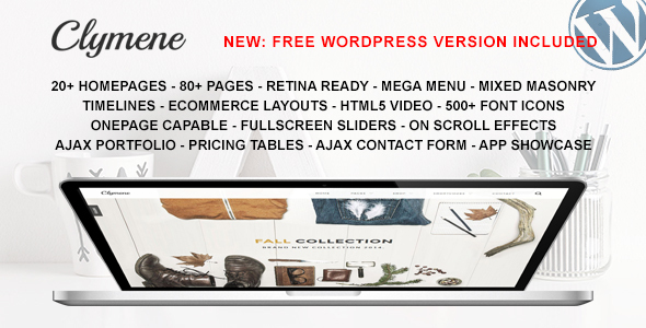 Clymene - Multipurpose HTML5 Template
