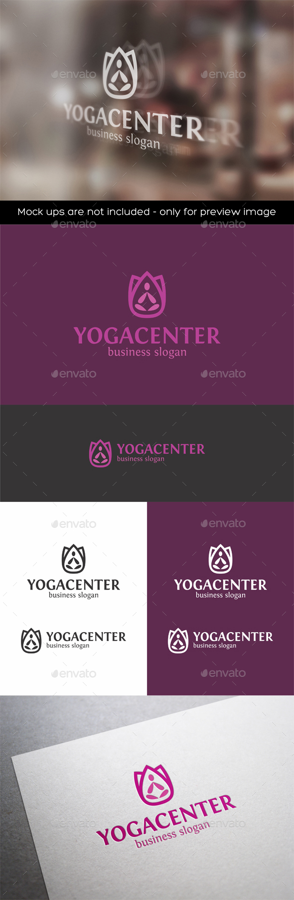 Yoga Center Logo - Symbols Logo Templates