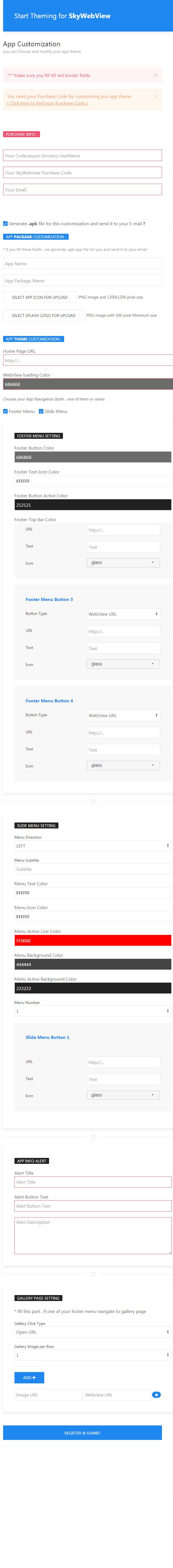 Sky Webview - Android & IOS React Native App