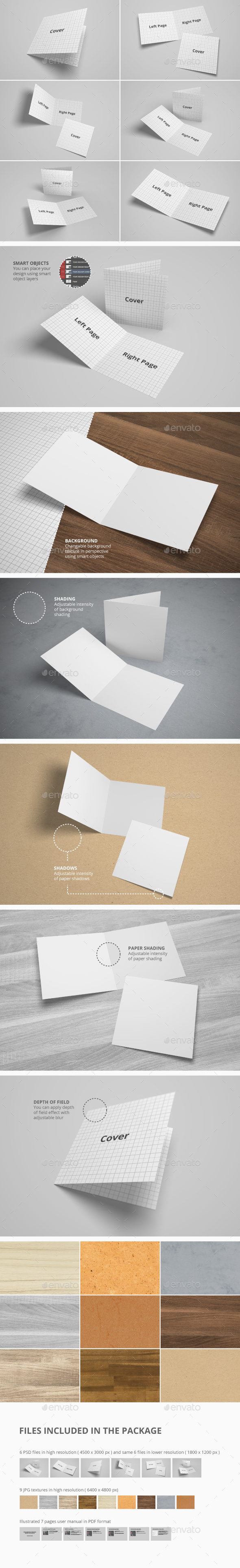 Bifold Brochure / Invitation / Greeting Card Mock-Up - Brochures Print