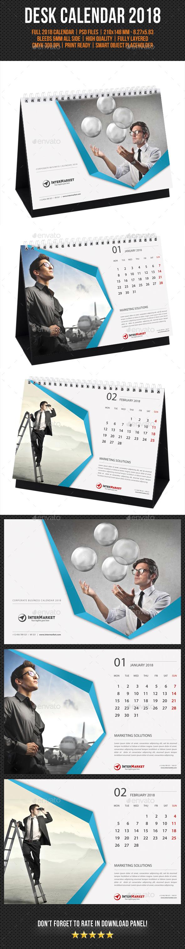 Corporate Desk Calendar 2018 V02 - Calendars Stationery