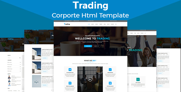 Trading - Multipurpose HTML5 Corporate Template