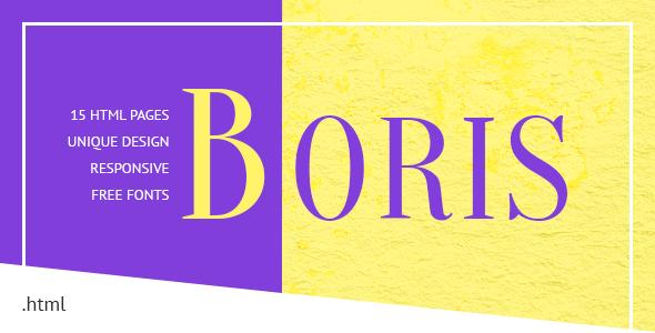 Boris – Creative Portfolio HTML Template