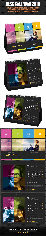 Corporate Desk Calendar 2018 V03 - Calendars Stationery
