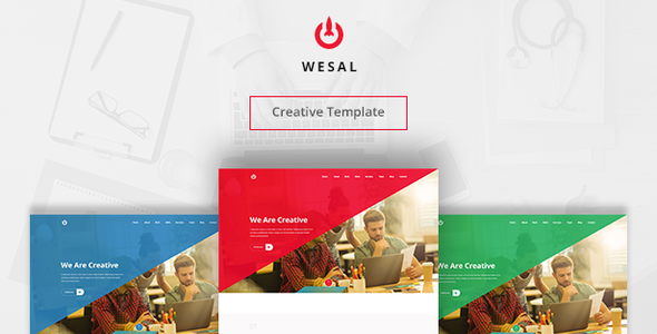 Wesal | Creative Muse Template - Muse Templates
