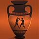 Ancient Boxers Animation On Greek Amphora