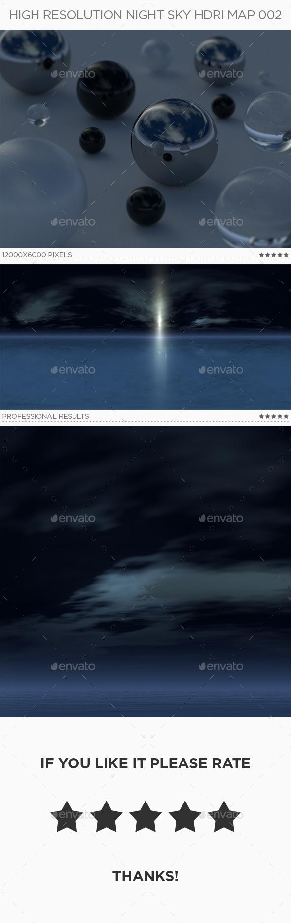 High Resolution Night Sky HDRi Map 002 - 3DOcean Item for Sale