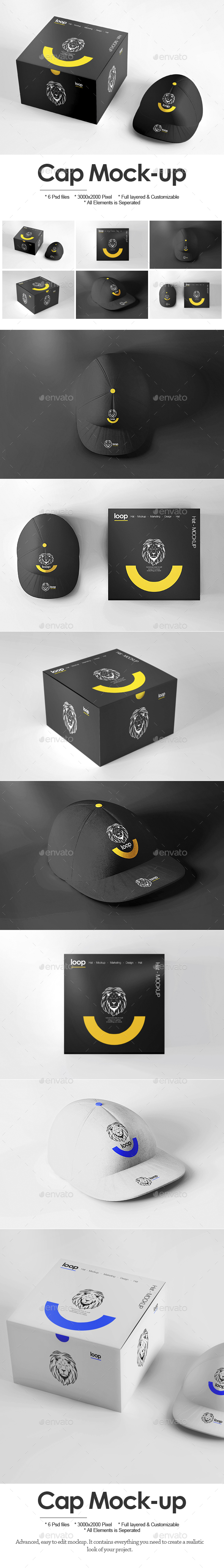 Cap Mock-up - Miscellaneous Apparel
