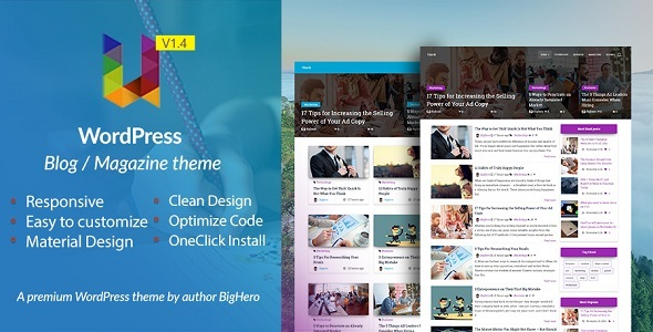 Unick - WordPress Blog / Magazine Material Design Theme - Blog / Magazine WordPress
