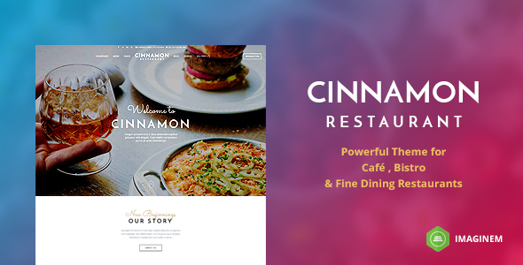 Cinnamon Restaurant Theme for WordPress - Restaurants & Cafes Entertainment