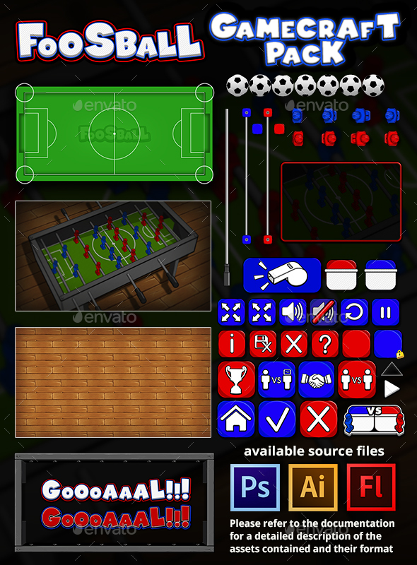 Foosball - Game Assets - Game Kits Game Assets