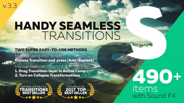Переходы в After Effects (Handy Seamless Transitions | Pack & Script) | Инфоклуб