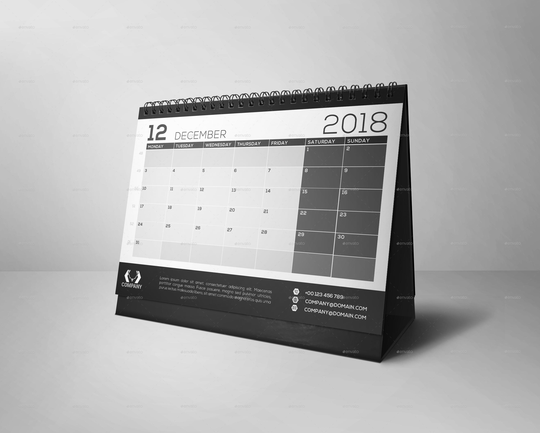 Black And White Desk Calendar Best Home Design 2018