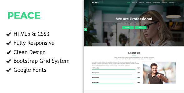 Peace – Multi Purpose Startup Landing Pages