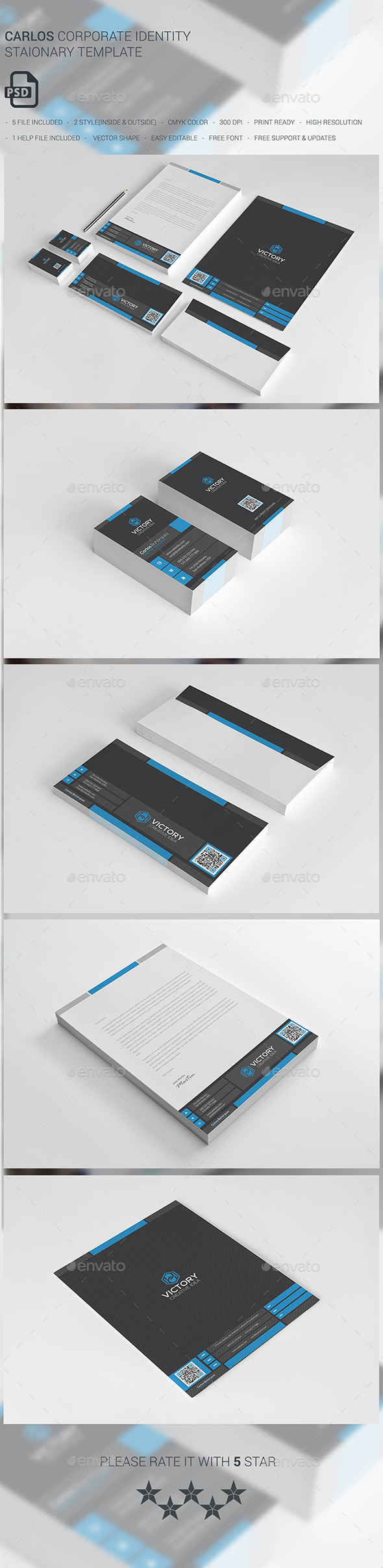 Carlos Corporate Stationary - Stationery Print Templates