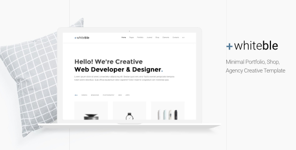 Whiteble - Minimal Portfolio, Agency, Shop, Creative HTML Template