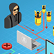 Internet Security isometric Concept - GraphicRiver Item for Sale