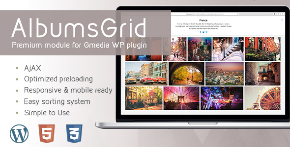 AlbumsGrid 3.2 | Gallery Module for Gmedia plugin - CodeCanyon Item for Sale