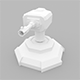 Lowpoly Turret Cannon - 3DOcean Item for Sale