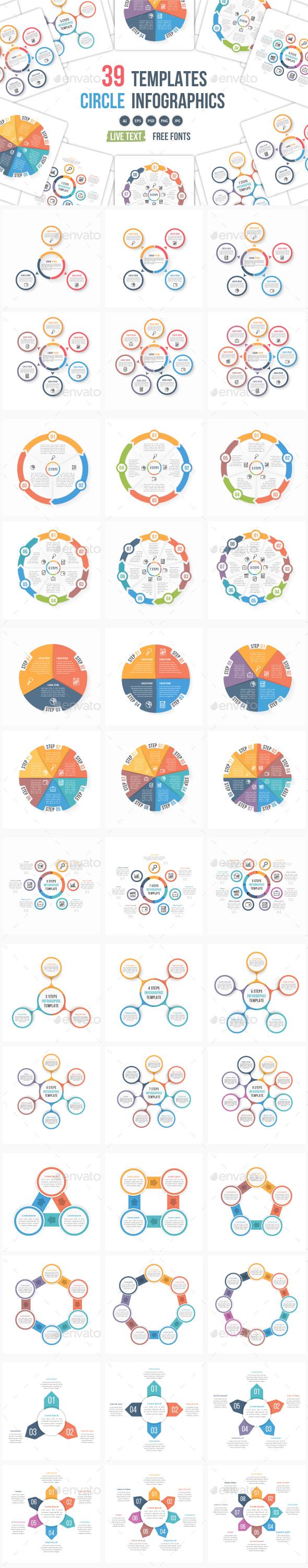 39 Circle Infographic Templates Bundle - Infographics