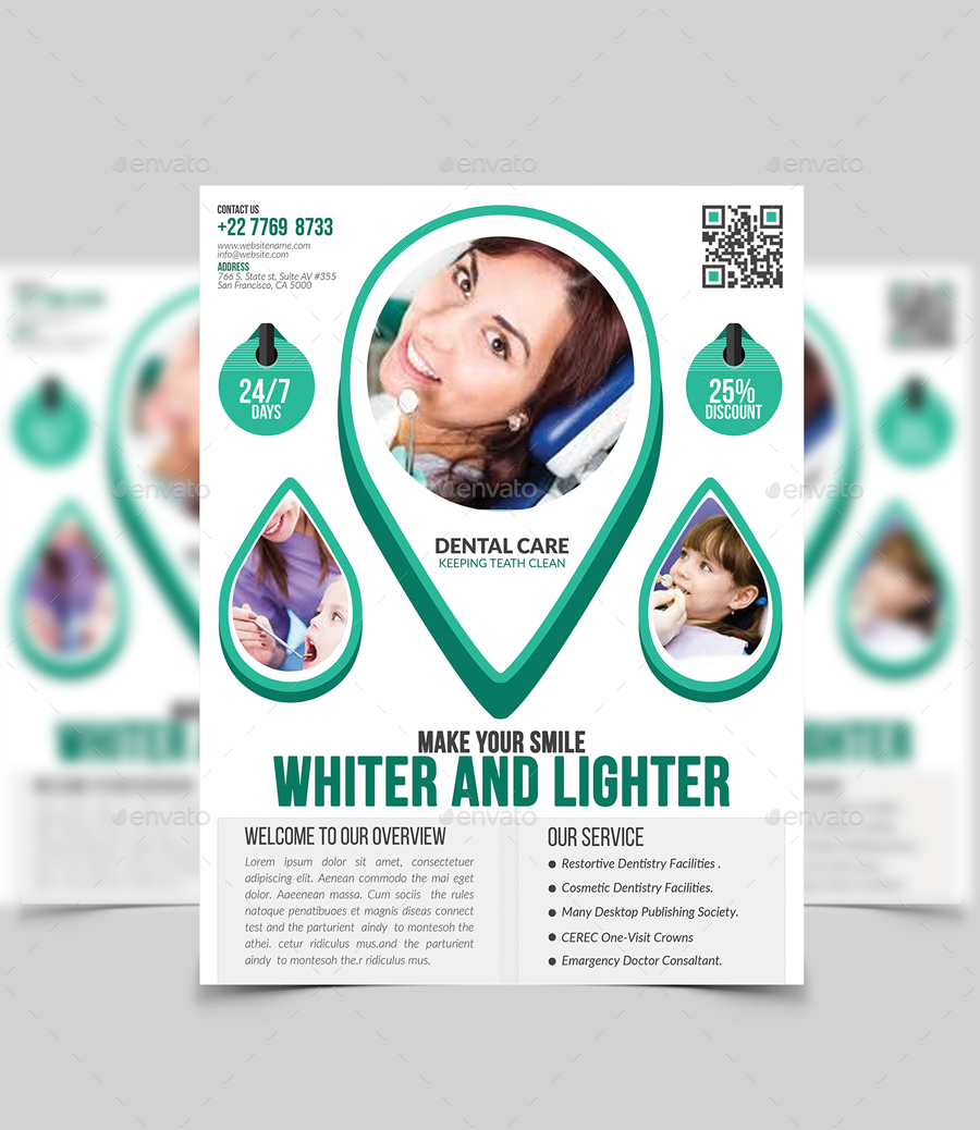 Dental Flyer Design. by Twin-Arts | GraphicRiver