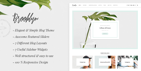 Brooklyn - WordPress Blog Theme