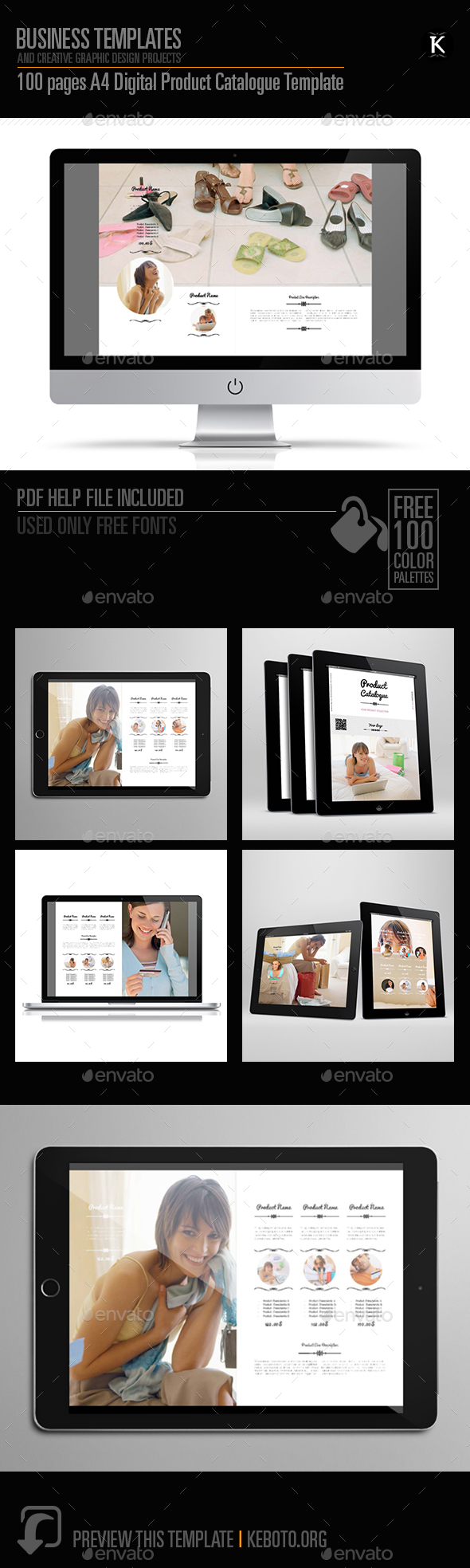 100 pages A4 Digital Product Catalogue Template - ePublishing