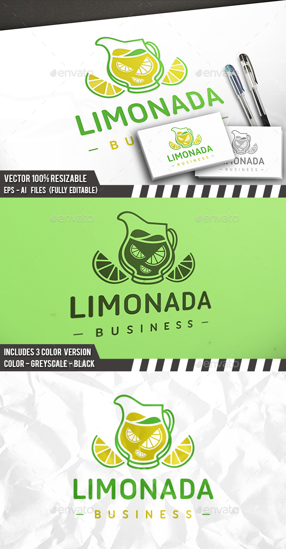 Lemonade Logo - Food Logo Templates