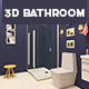 3D Bathroom Design 3 - 3DOcean Item for Sale