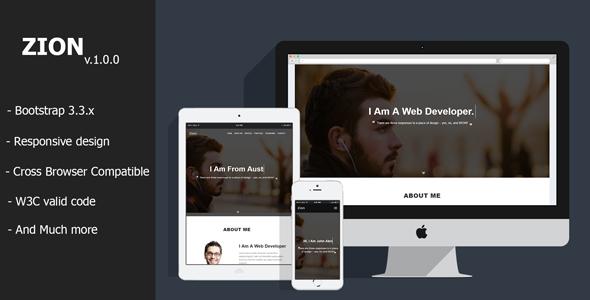 Zion – Personal Portfolio HTML Template