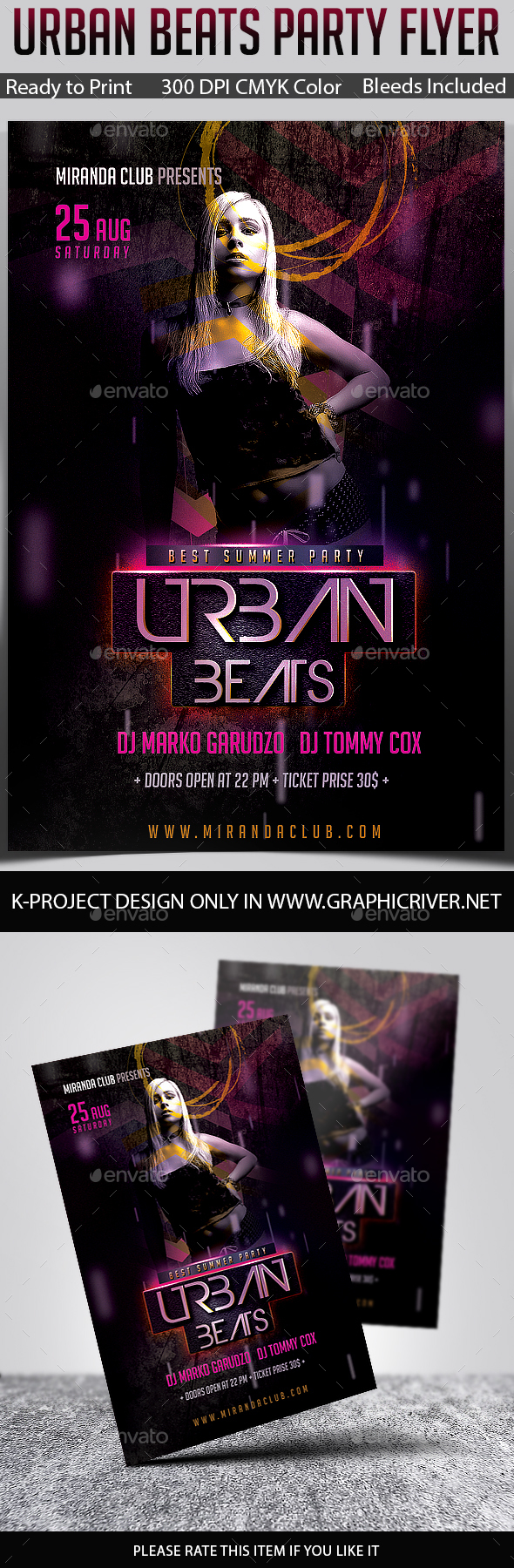 Urban Beats Party Flyer - Clubs & Parties Events