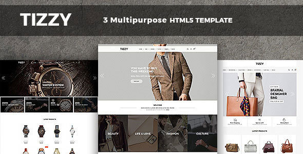 Tizzy - Responsive Multipurpose E-Commerce HTML5 Template