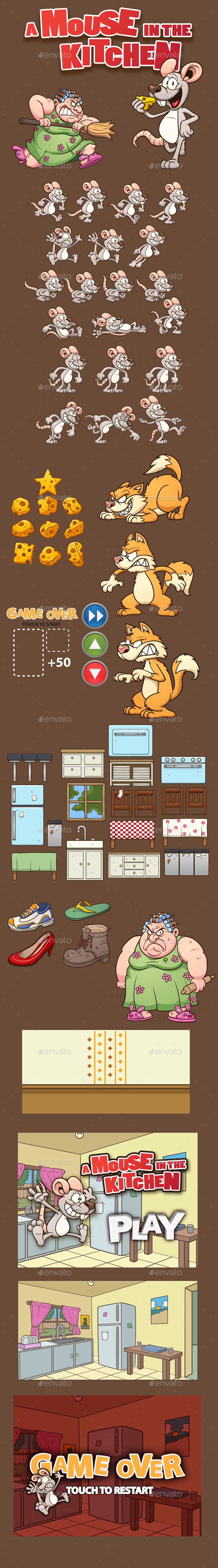 Mouse Run Kit - Game Kits Game Assets