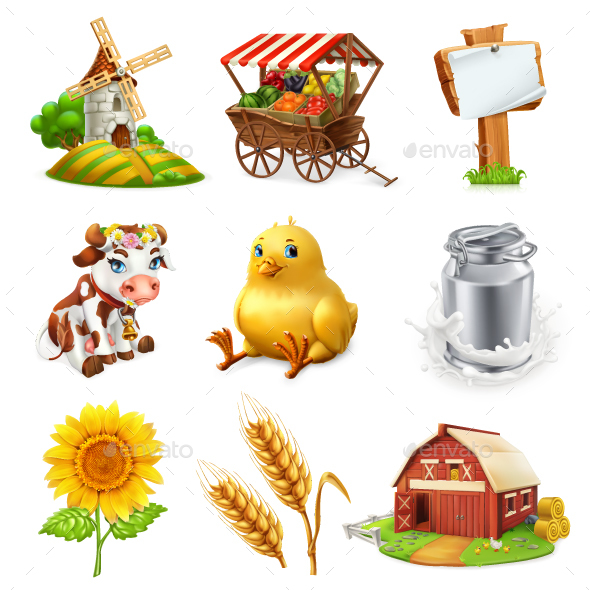 Farm Set - Miscellaneous Vectors