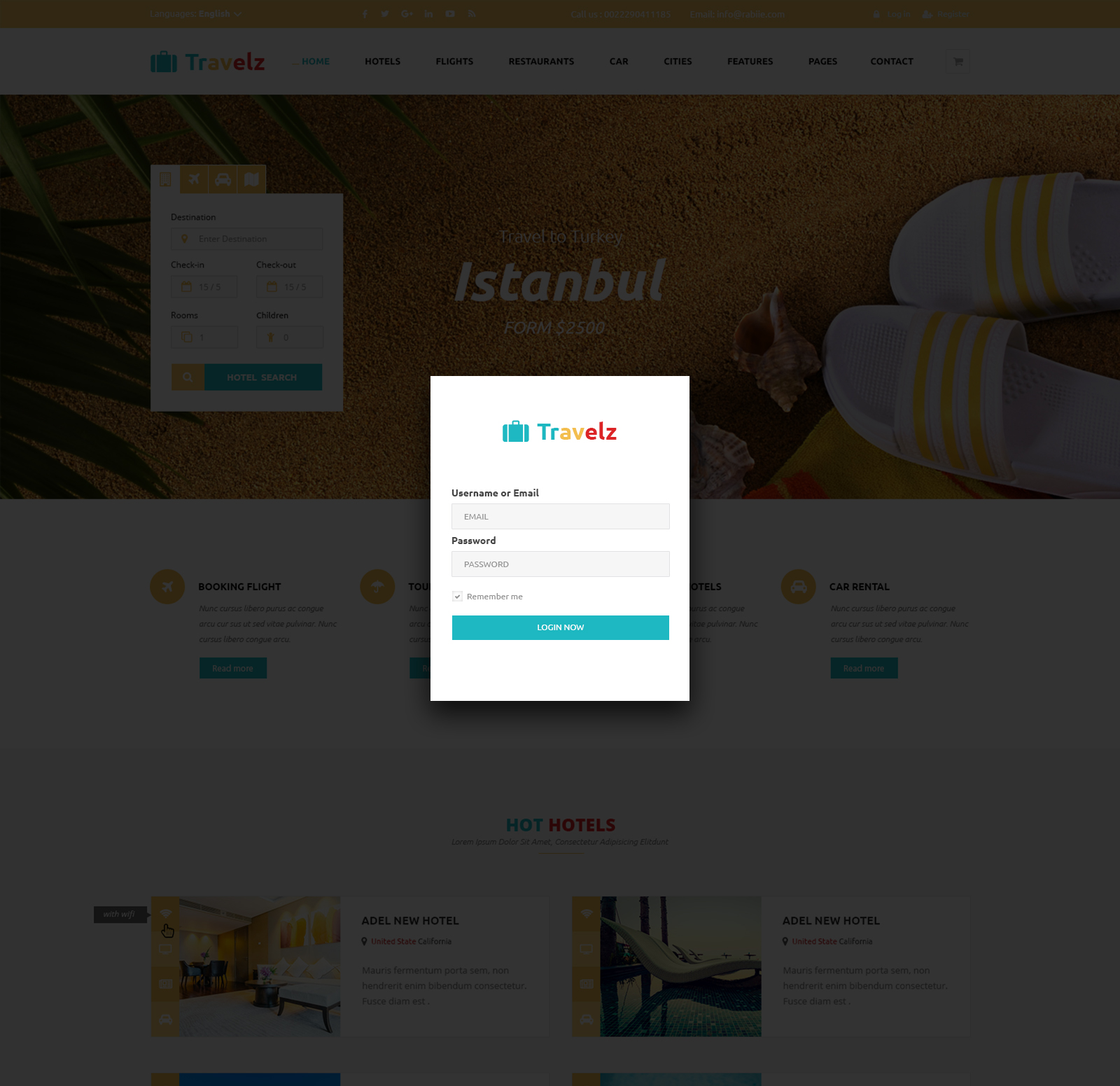 Travelz – Multipurpose Booking PSD Template by Nile-Theme | ThemeForest