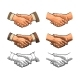 Handshake Vintage Engraving - GraphicRiver Item for Sale