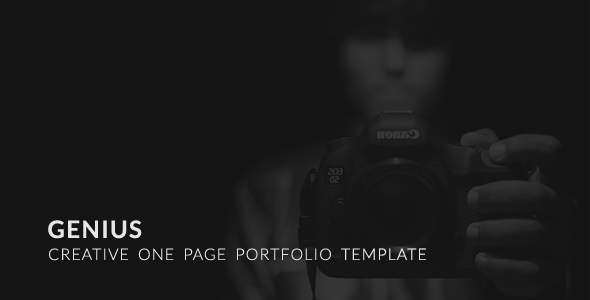 Genius | One Page Creative Portfolio HTML5 Template