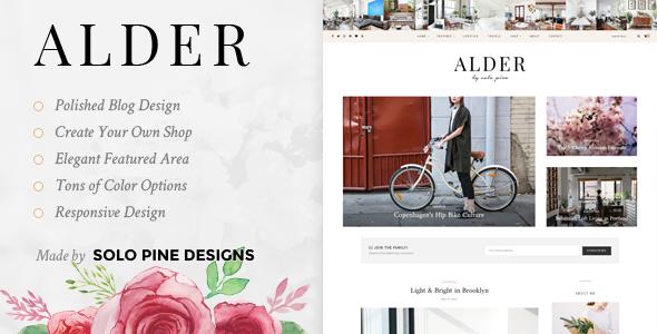 Alder - A Responsive WordPress Blog Theme - Personal Blog / Magazine