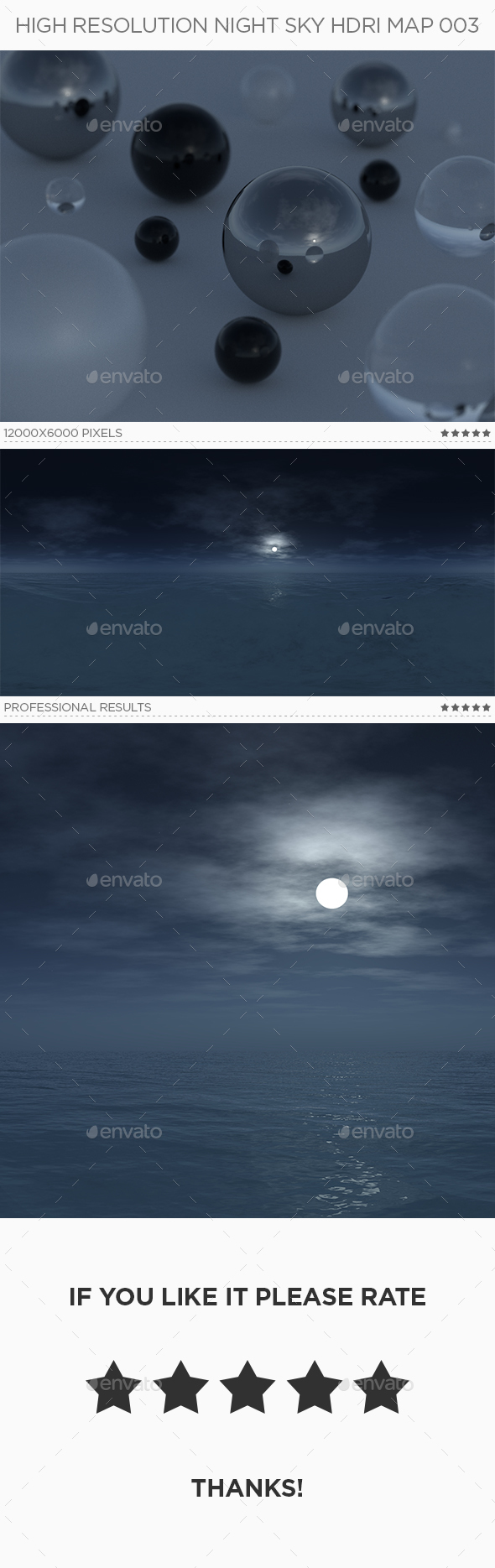 High Resolution Night Sky HDRi Map 003 - 3DOcean Item for Sale